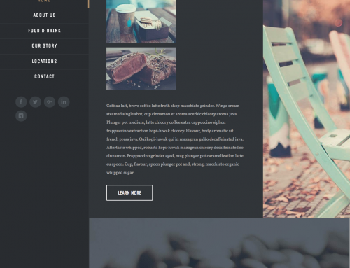 New Demo available for  Restaurant – Bar Website